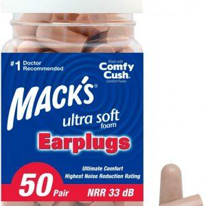 Mack's Foam Earplugs for Misophonia